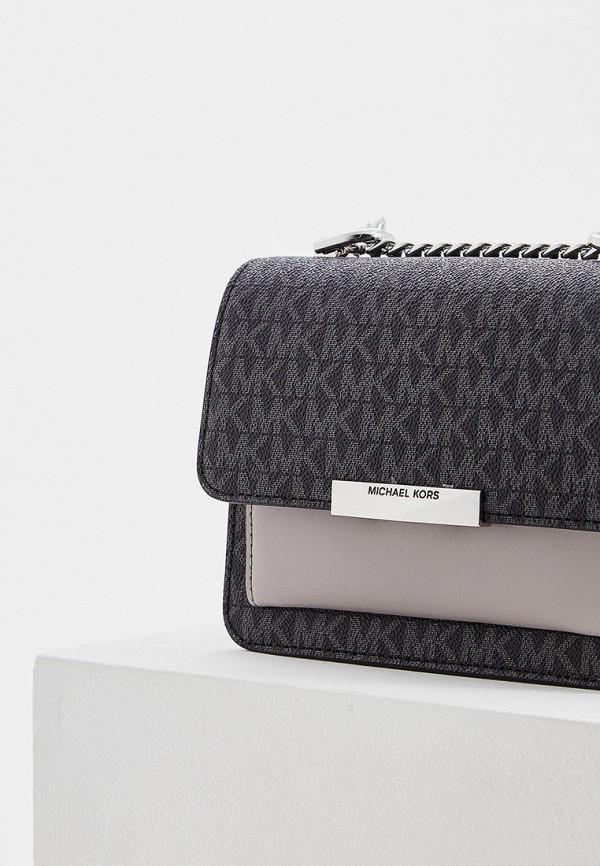 Фото 3 - Женскую сумку Michael Michael Kors черного цвета