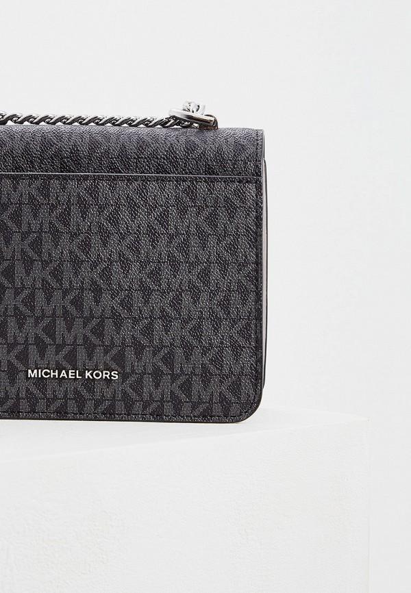 Фото 4 - Женскую сумку Michael Michael Kors черного цвета