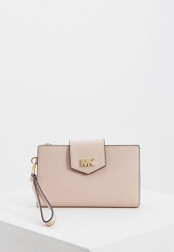 Купить женский кошелек или портмоне Michael Michael Kors розового цвета