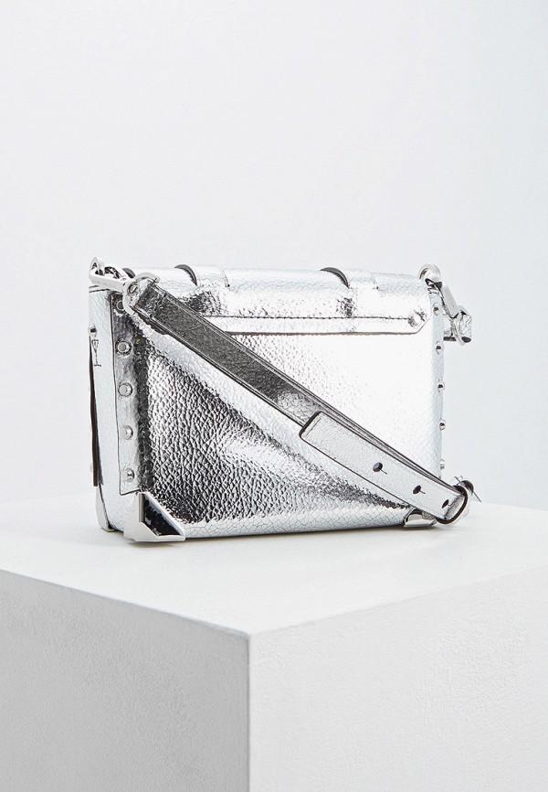 Фото 2 - женскую сумку Michael Michael Kors серебрянного цвета