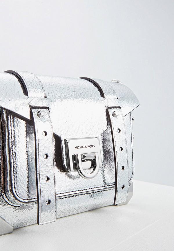 Фото 3 - женскую сумку Michael Michael Kors серебрянного цвета