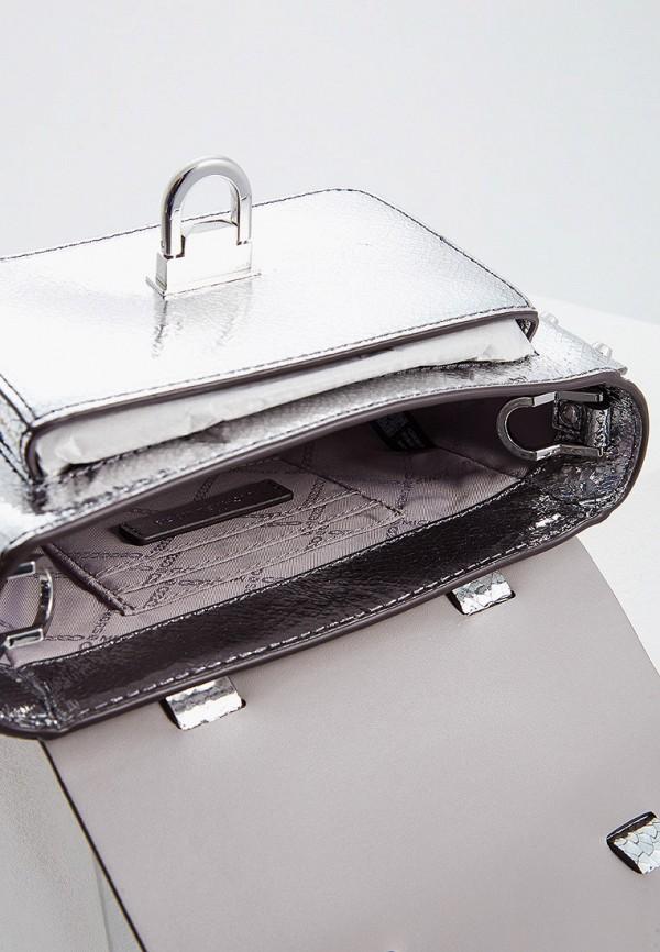 Фото 5 - женскую сумку Michael Michael Kors серебрянного цвета