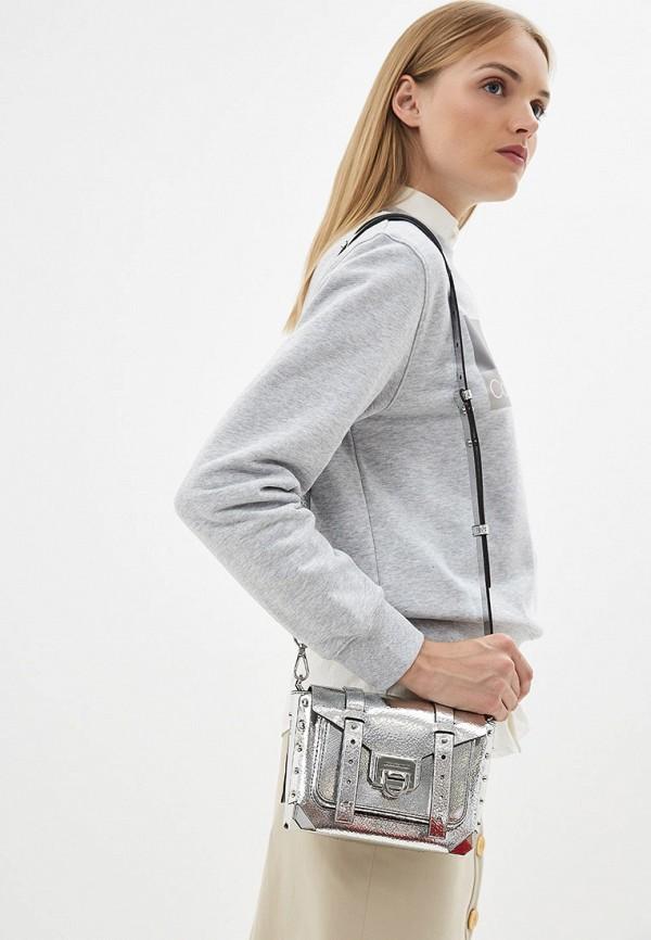 Фото 6 - женскую сумку Michael Michael Kors серебрянного цвета
