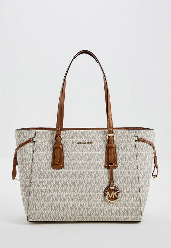 женская сумка michael kors, бежевая