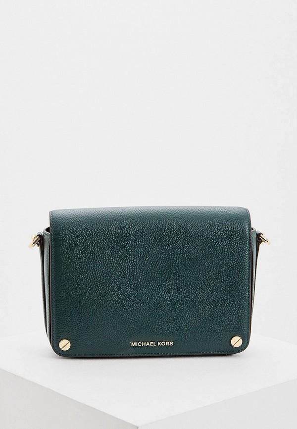 женская сумка через плечо michael kors, зеленая