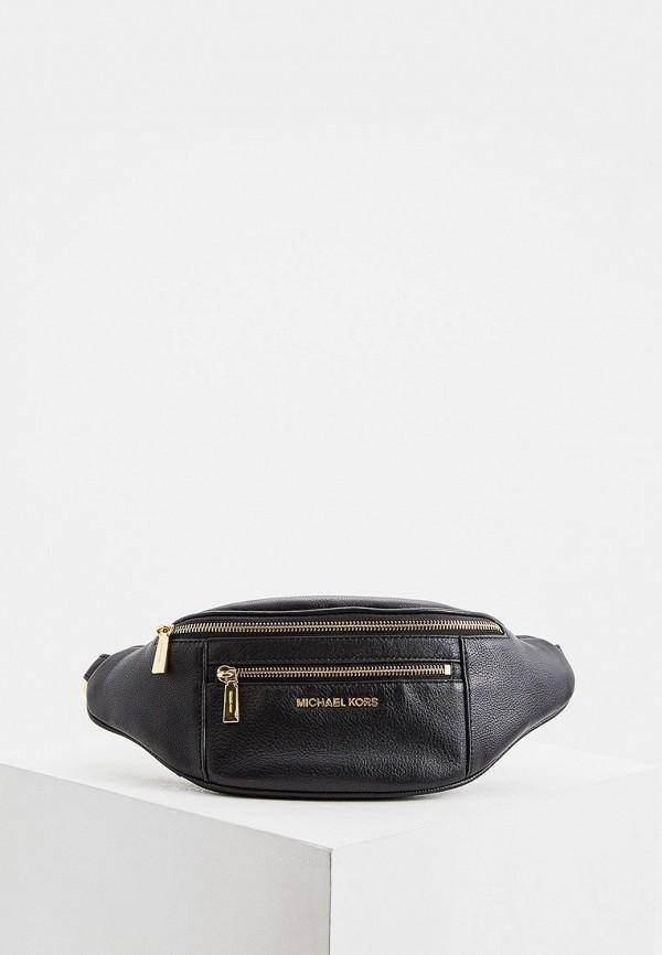 женская поясные сумка michael kors, черная