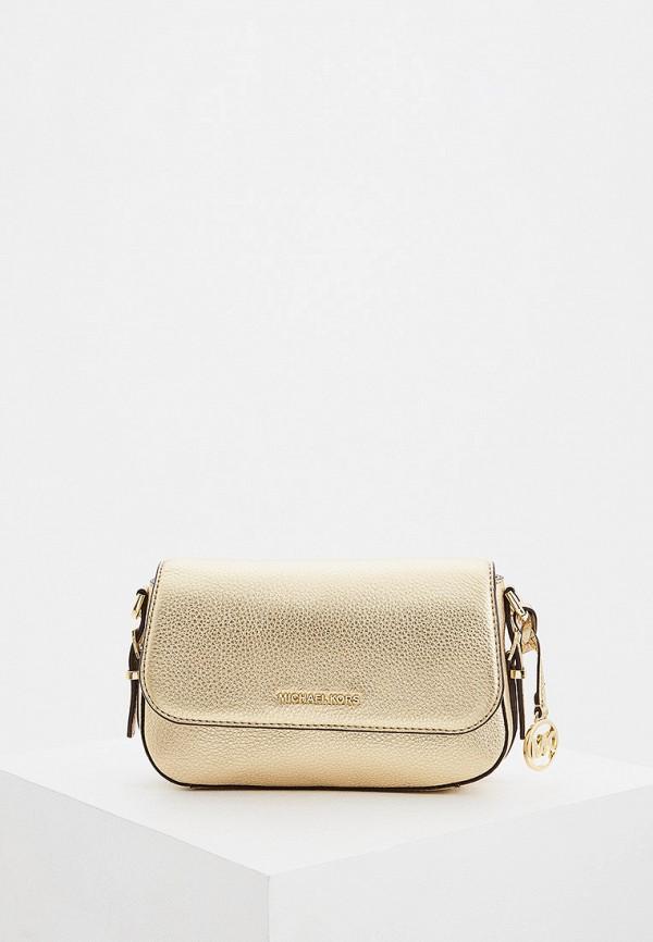 женская сумка через плечо michael kors, золотая