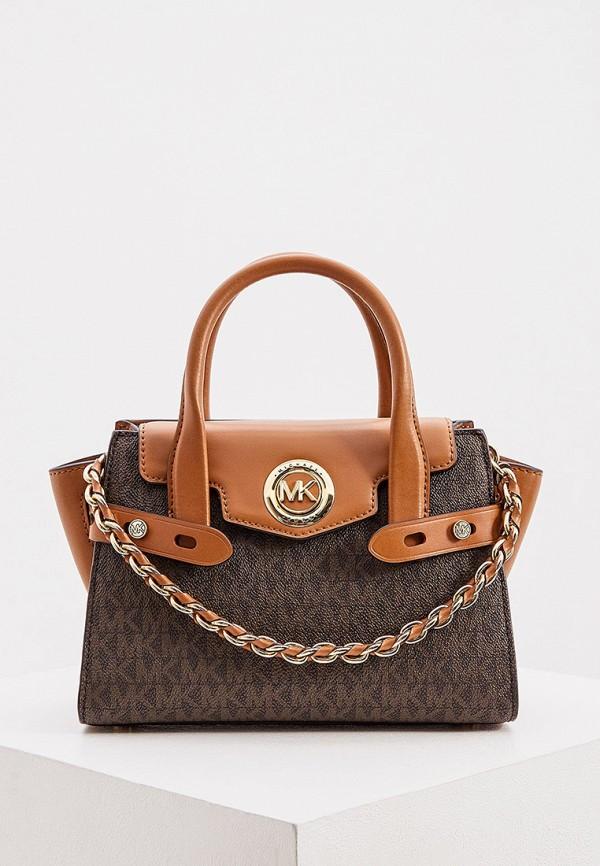 женская сумка michael kors, коричневая