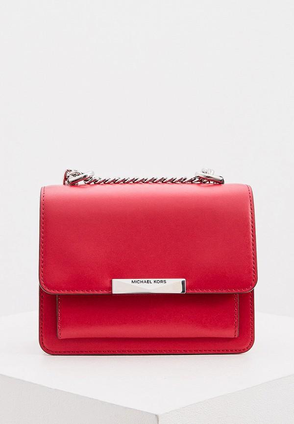 женская сумка michael kors, красная
