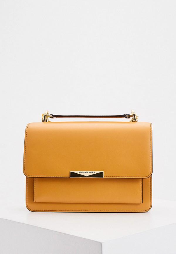 женская сумка michael kors, оранжевая
