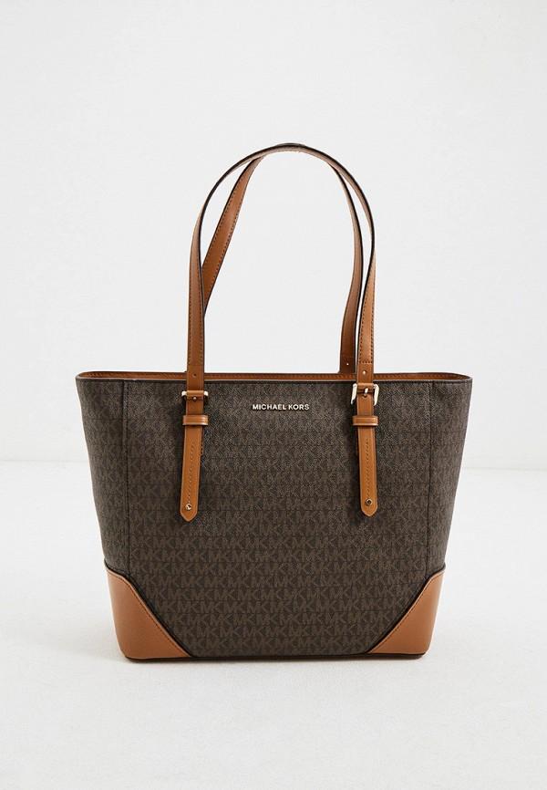 женская сумка-шоперы michael kors, коричневая