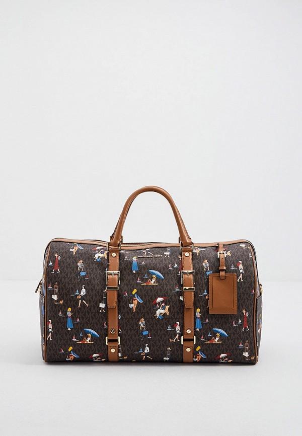 женская дорожные сумка michael kors, коричневая