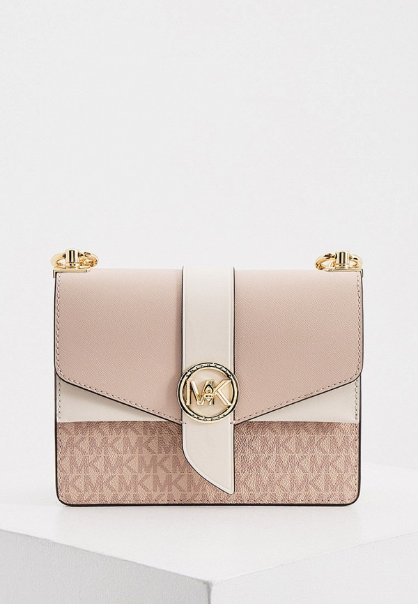 женская сумка с ручками michael kors, розовая