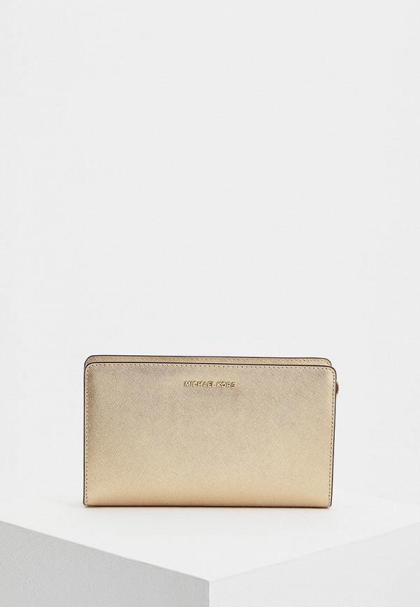 женская сумка michael kors, золотая
