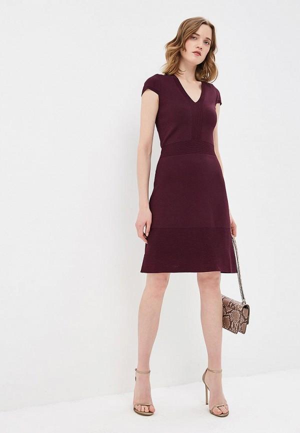 женское повседневные платье michael kors, бордовое