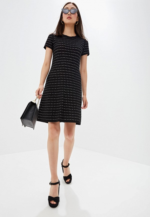 Фото 2 - женское повседневное платье Michael Michael Kors черного цвета