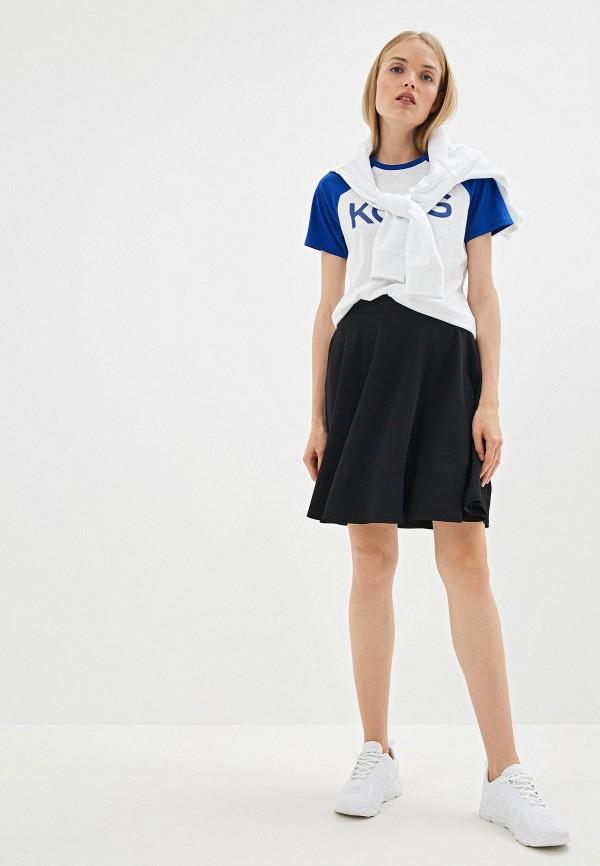 Фото 2 - женскую футболку Michael Michael Kors белого цвета