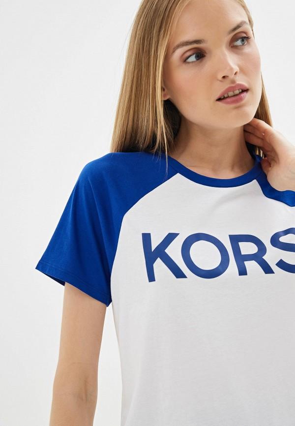 Фото 4 - женскую футболку Michael Michael Kors белого цвета