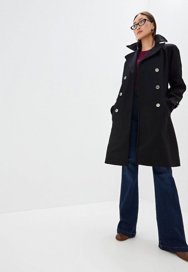 Фото 2 - женское пальто или плащ Michael Michael Kors черного цвета
