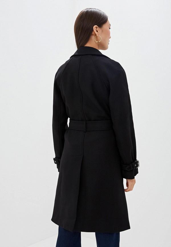 Фото 3 - женское пальто или плащ Michael Michael Kors черного цвета