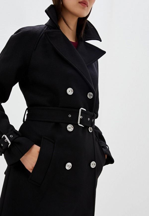 Фото 4 - женское пальто или плащ Michael Michael Kors черного цвета
