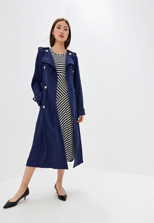 Фото 2 - женское пальто или плащ Michael Michael Kors синего цвета