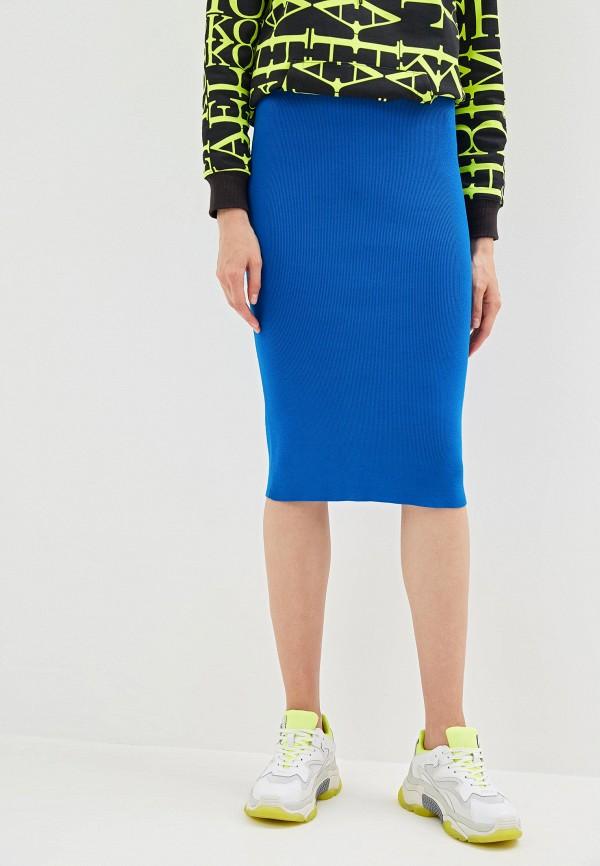 женская зауженные юбка michael kors, синяя