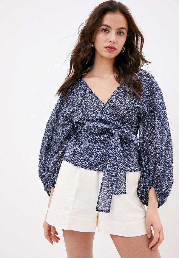 женская блузка michael kors, синяя