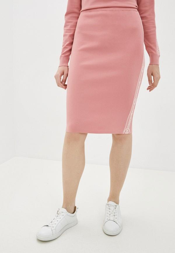женская зауженные юбка michael kors, розовая