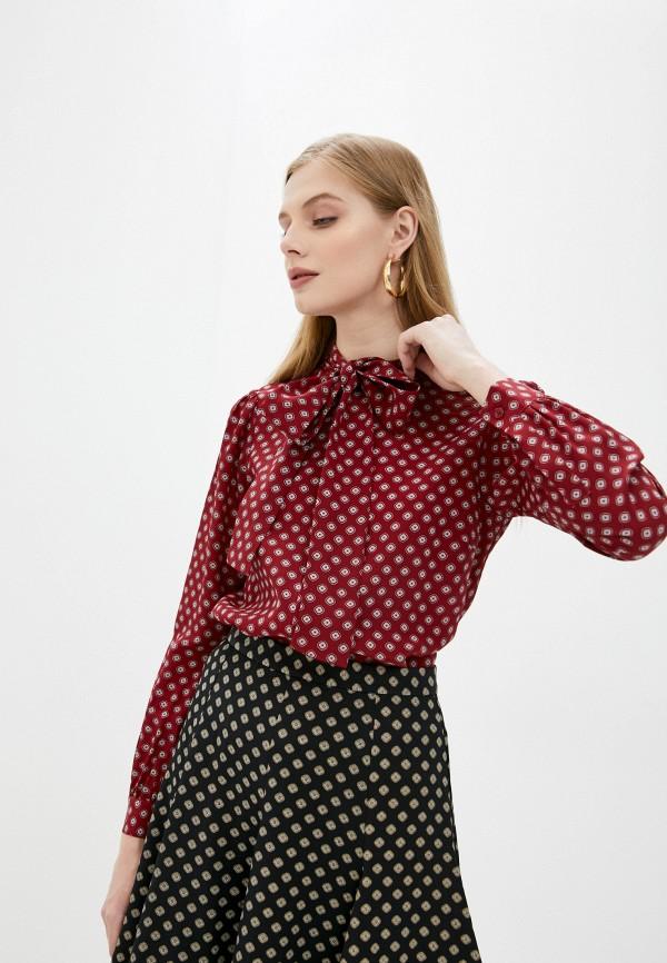 женская блузка michael kors, бордовая