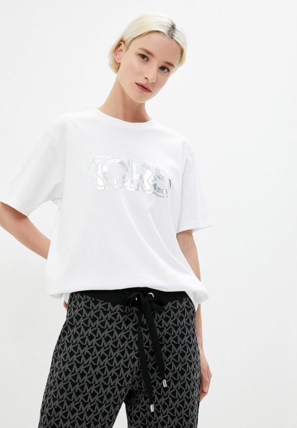 женская футболка michael kors, белая