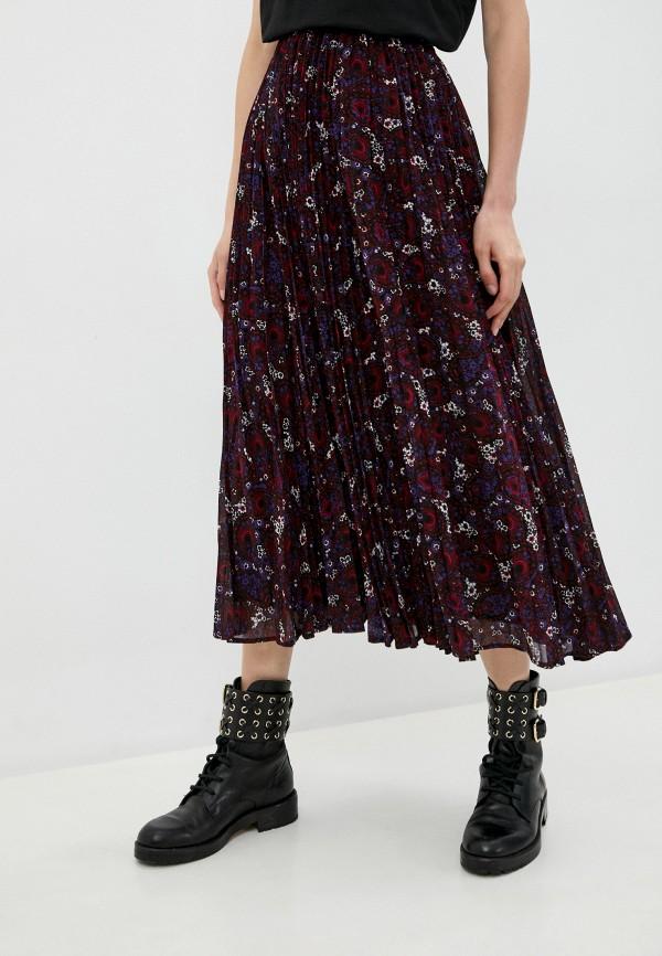 женская юбка michael kors, бордовая