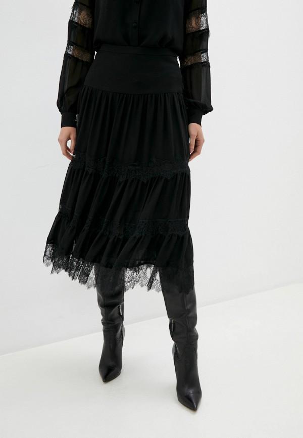 женская юбка michael kors, черная