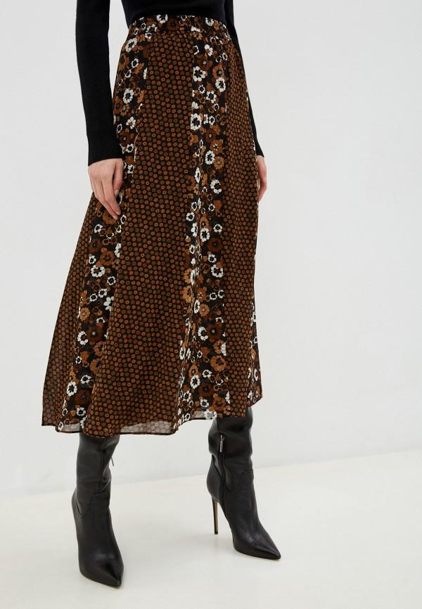 женская юбка michael kors, коричневая