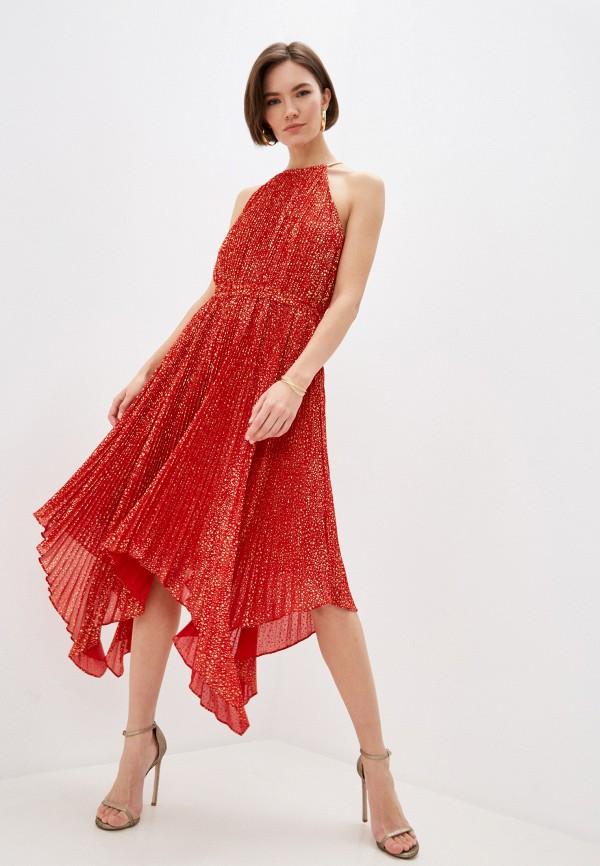 женское вечерние платье michael kors, красное