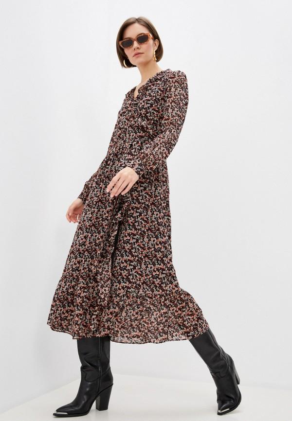 женское платье michael kors, бордовое