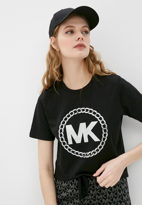 женская футболка michael kors, черная