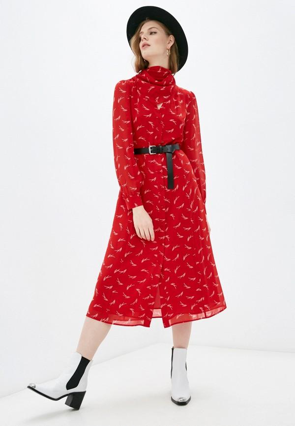 женское повседневные платье michael kors, красное