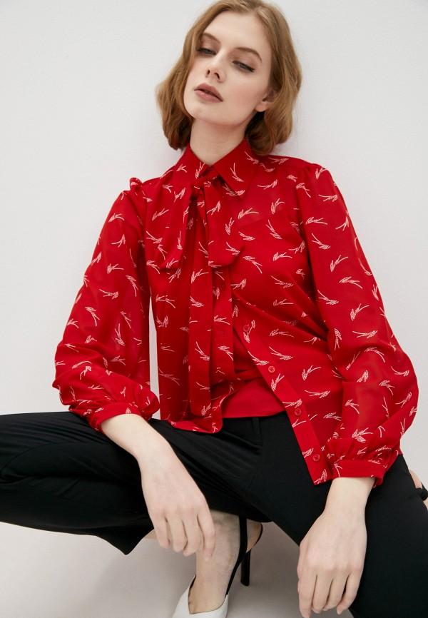 женская блузка michael kors, красная