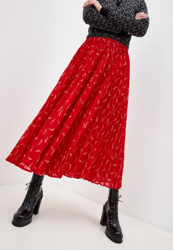 женская юбка michael kors, красная