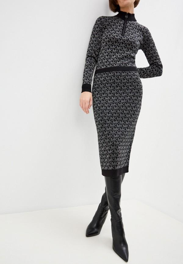 женская зауженные юбка michael kors, черная