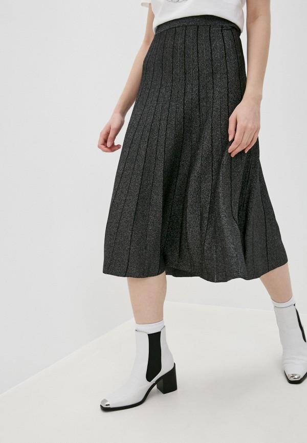 женская юбка michael kors, серебряная