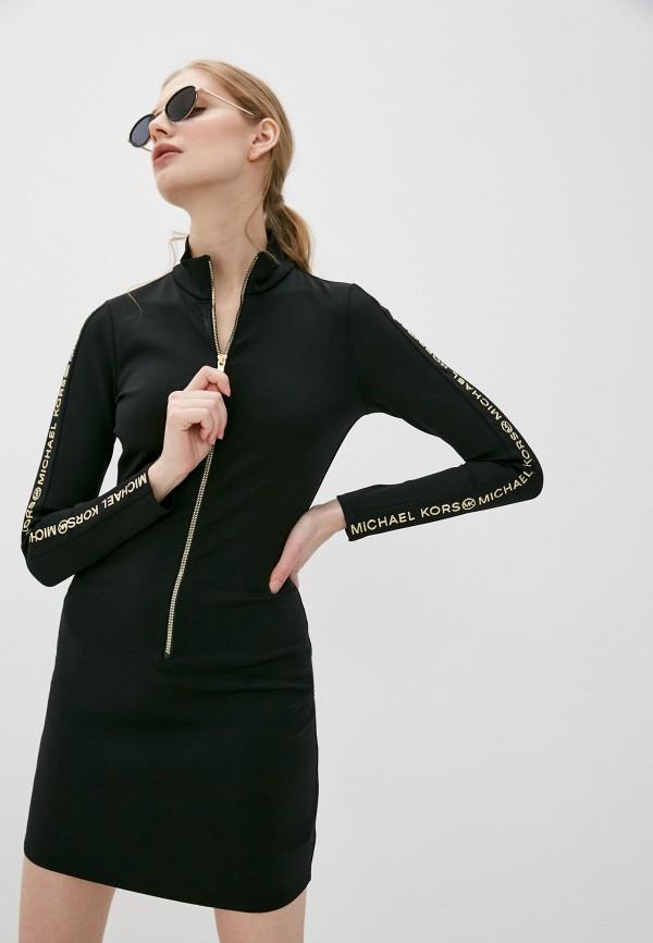 женское платье-футляр michael kors, черное