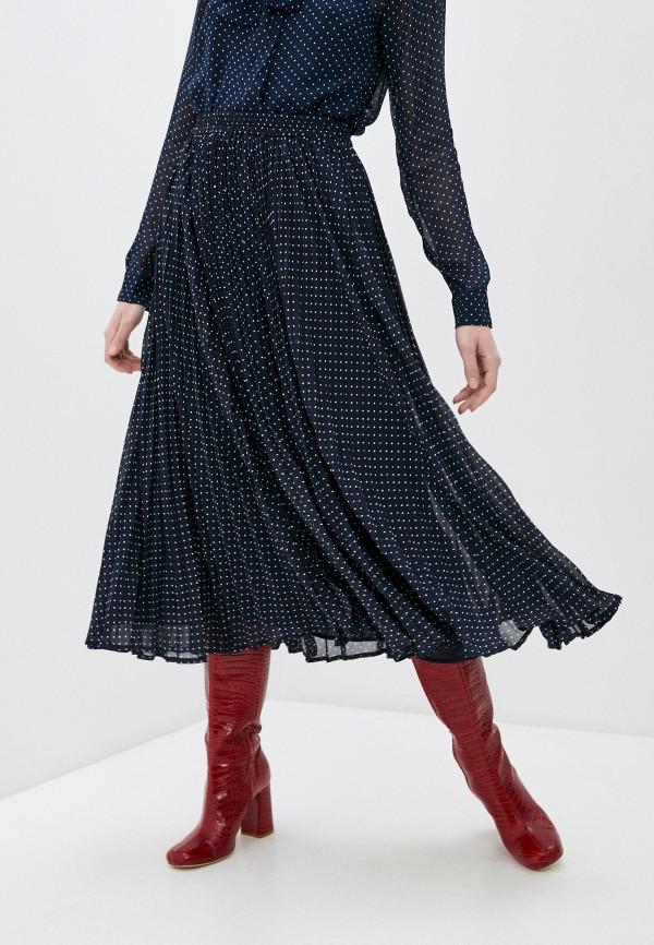 женская плиссированные юбка michael kors, синяя