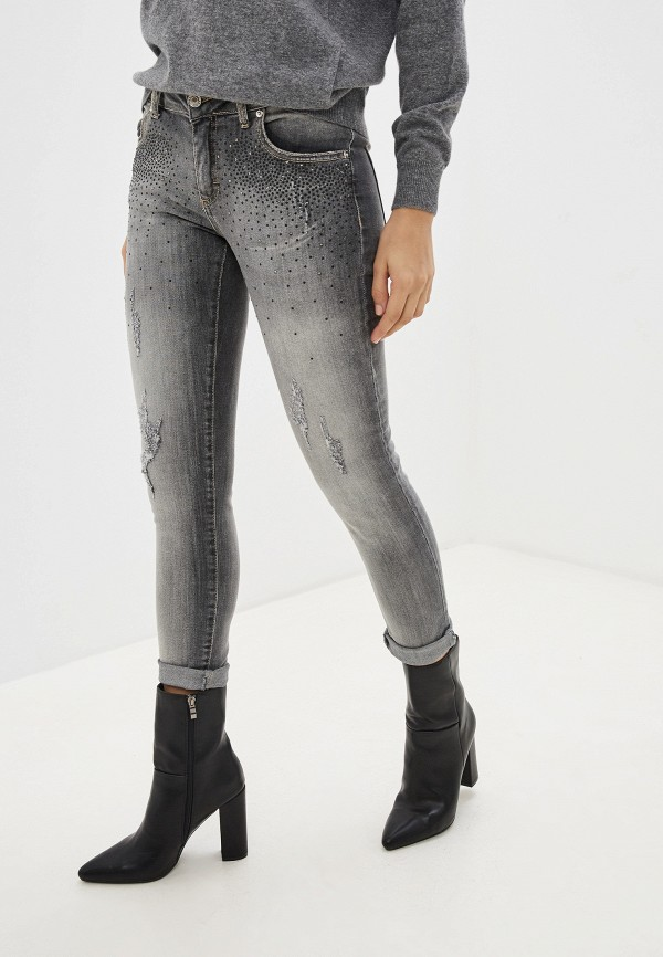 женские джинсы miss miss by valentina, серые