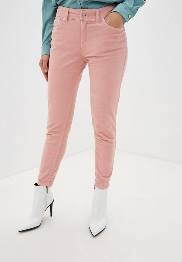 женские повседневные брюки miss miss by valentina, розовые