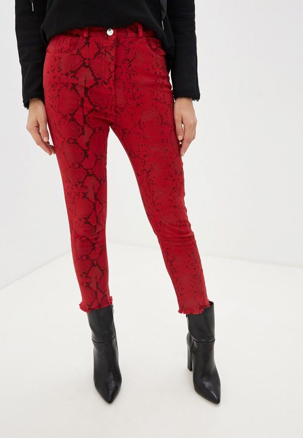 женские брюки miss miss by valentina, красные