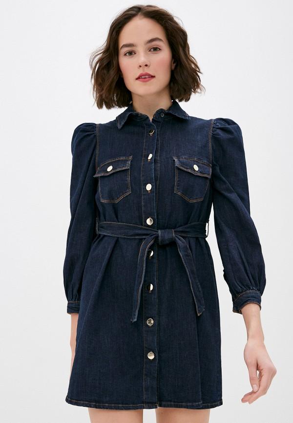женское джинсовые платье miss miss by valentina, синее