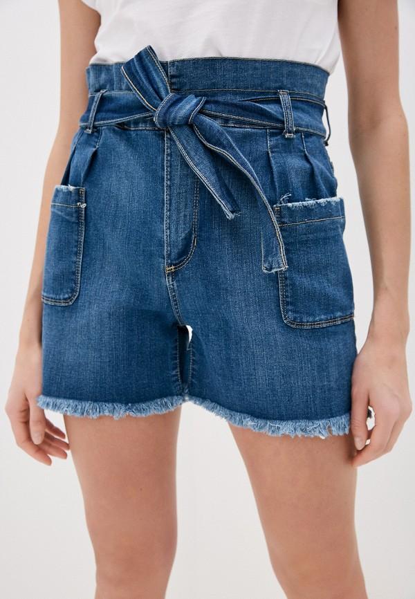 женские джинсовые шорты miss miss by valentina, синие