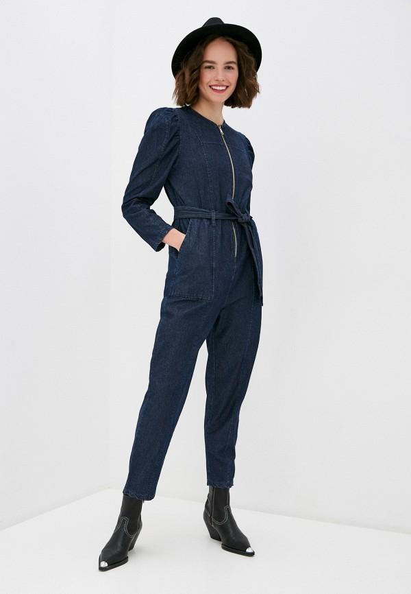 женский джинсовые комбинезон miss miss by valentina, синий
